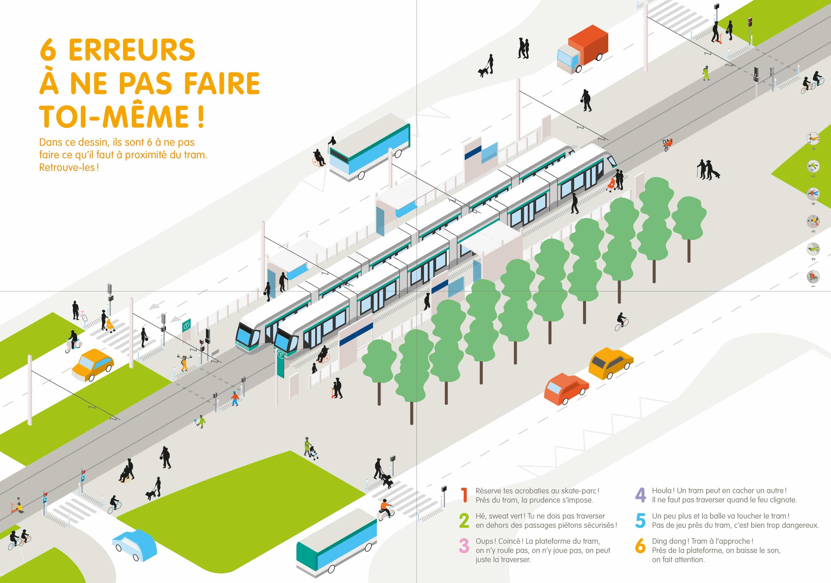 """Livret """"Le code du tram en ville"""" — illustration"""