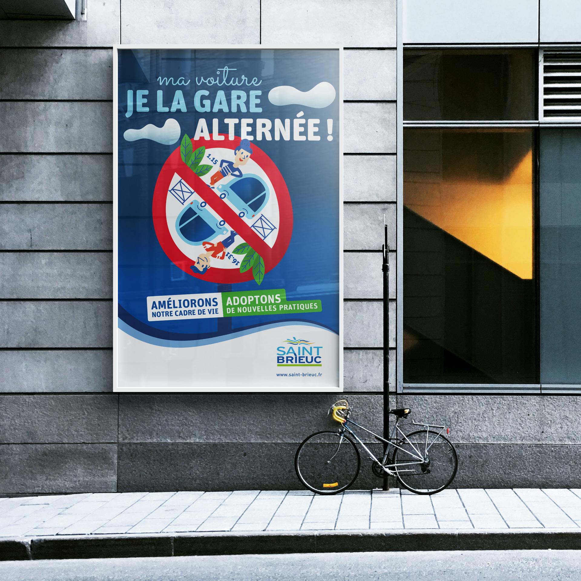ville-saint-brieuc-agglomeration-mairie-communication-campagne-stationnement-illustration-affiche