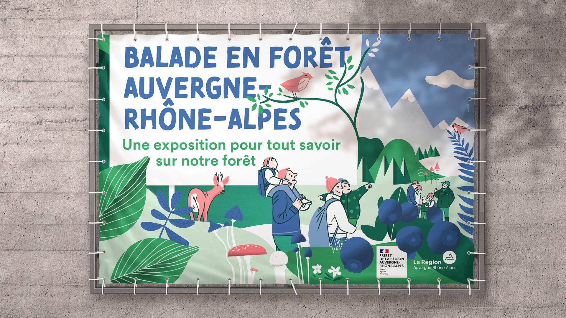 DRAAF_Region-Auvergne-Rhone-Alpes-Exposition-design-information-balade-foret-affiche-bache